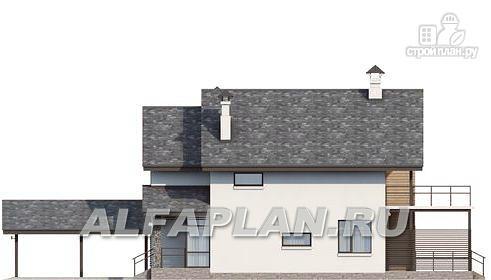 """Фото 5: проект """"Гольфстрим"""" - дом с навесом для 2-х машин для узкого участка"""
