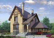 Проект «Вива Бе» - рациональный дом с навесом для машины