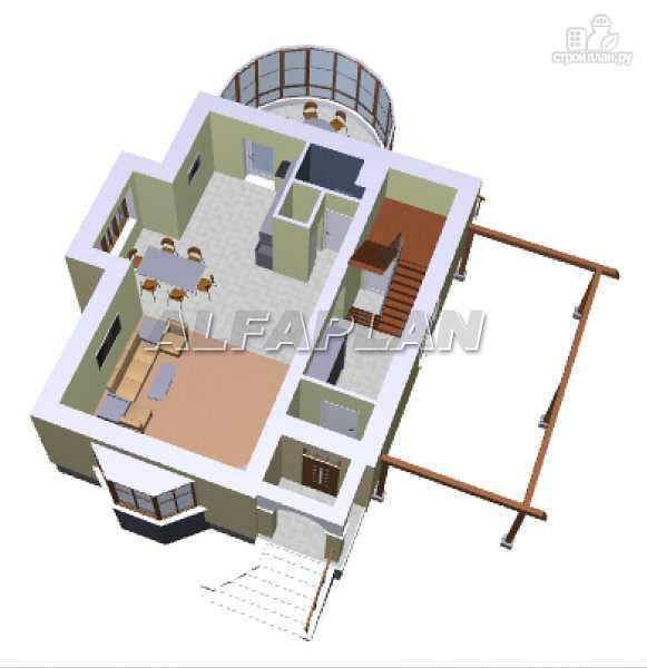 Фото 3: проект «Вива Бе» - рациональный дом с навесом для машины