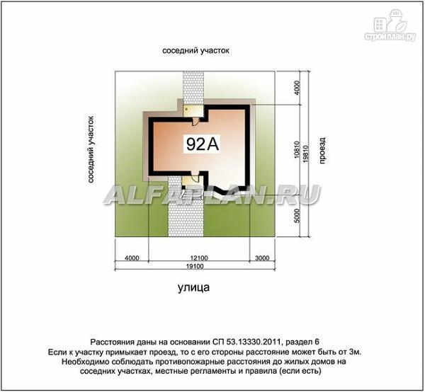 """Фото 10: проект """"Фантазия"""" - дом с компактным планом для небольшого участка"""