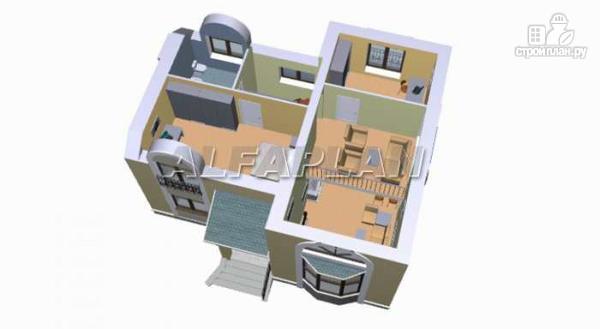 """Фото 5: проект """"Фантазия"""" - дом с компактным планом для небольшого участка"""