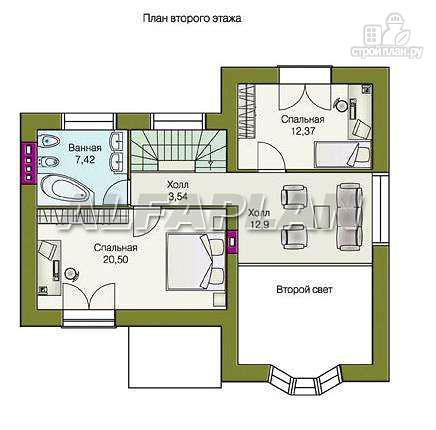 """Фото 4: проект """"Фантазия"""" - дом с компактным планом для небольшого участка"""