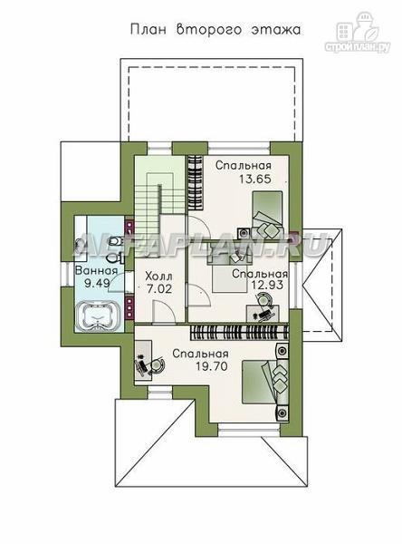 Фото 3: проект двухэтажный коттедж в классическом стиле