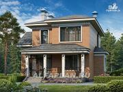 Фото: двухэтажный коттедж в классическом стиле