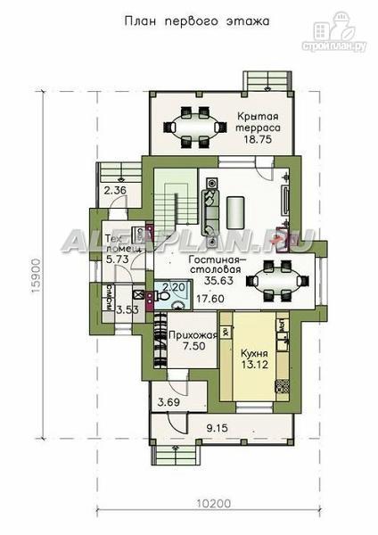 Фото 2: проект двухэтажный коттедж в классическом стиле