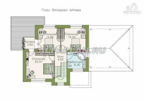 """Фото 3: проект """"Дипломат Плюс"""" - загородный дом с бильярдной и гаражом-навесом"""