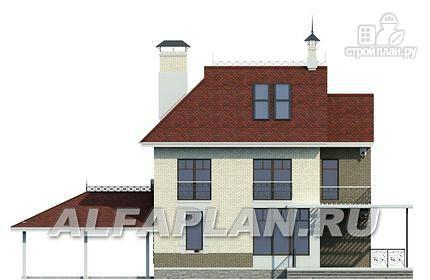 """Фото 7: проект """"Дипломат Плюс"""" - загородный дом с бильярдной и гаражом-навесом"""