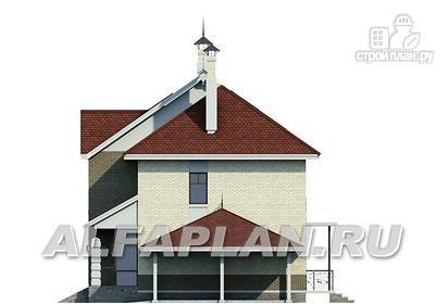 """Фото 6: проект """"Дипломат Плюс"""" - загородный дом с бильярдной и гаражом-навесом"""
