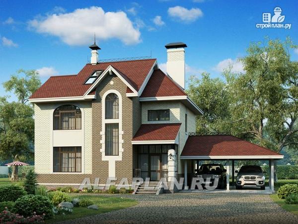 """Фото: проект """"Дипломат Плюс"""" - загородный дом с бильярдной и гаражом-навесом"""