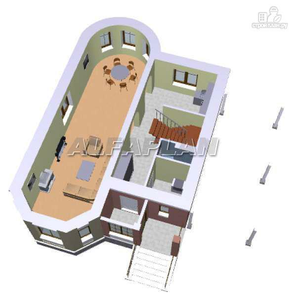 Фото 3: проект «Аристо» - компактный дом с навесом для машины