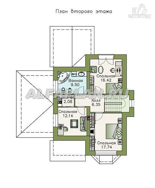 """Фото 3: проект """"Примавера"""" - компактный дом с гаражом-навесом"""