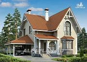 """Проект """"Примавера"""" - компактный дом с гаражом-навесом"""