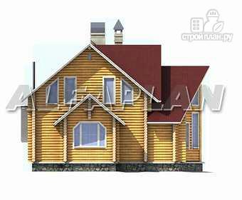 Фото 10: проект «Л-Хаус» - деревянный дом с навесом для машины