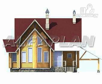 Фото 7: проект «Л-Хаус» - деревянный дом с навесом для машины