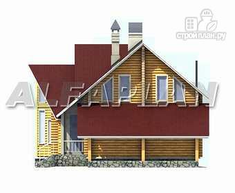 Фото 8: проект «Л-Хаус» - деревянный дом с навесом для машины