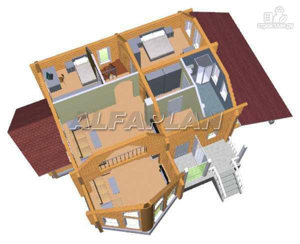Фото 5: проект «Л-Хаус» - деревянный дом с навесом для машины
