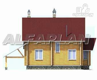 Фото 9: проект «Л-Хаус» - деревянный дом с навесом для машины