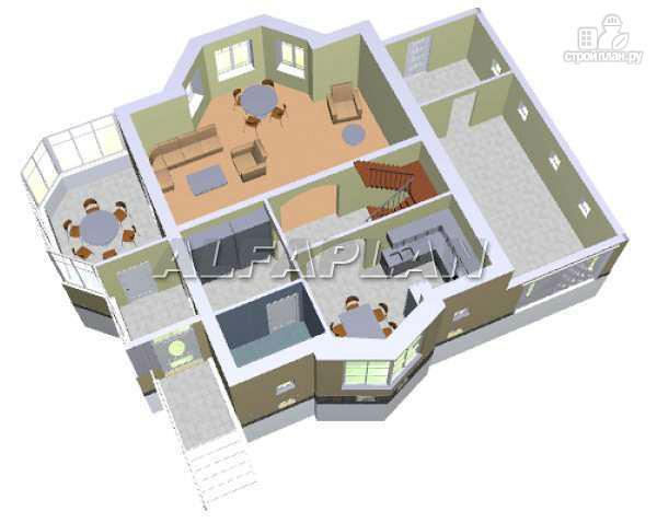 Фото 6: проект «Конформ» - загородный дом с гаражом и верандой