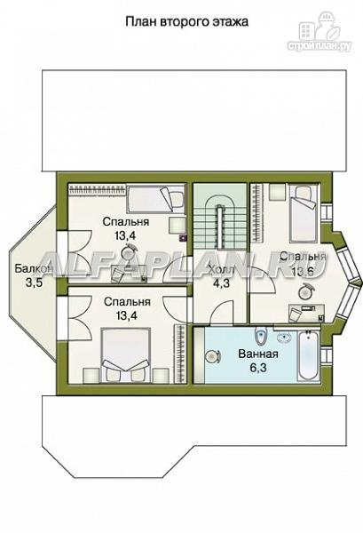 Фото 4: проект «Конформ» - загородный дом с гаражом и верандой