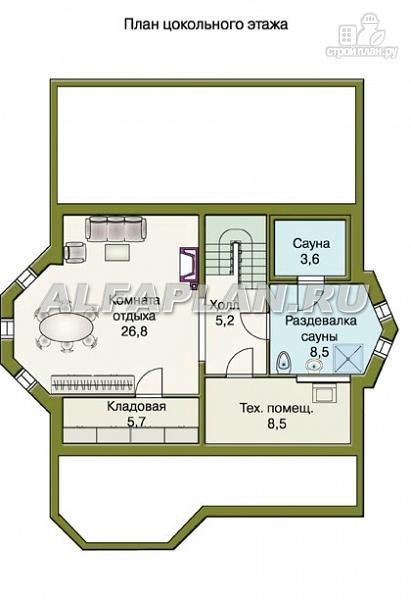 Фото 2: проект «Конформ» - загородный дом с гаражом и верандой