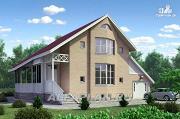Фото: «Конформ» - загородный дом с гаражом и верандой