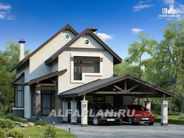"""Фото: проект """"Эль-Ниньо"""" - современный дом с террасами и навесом для машин"""