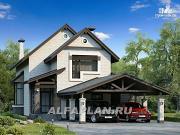 """Фото: """"Эль-Ниньо"""" - современный дом с террасами и навесом для машин"""