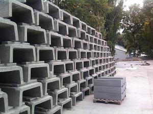 Лотки быстротока Б-6, Б-7, блоки упора Б-9, Б-9а, элементы укрепления откосов автодорог