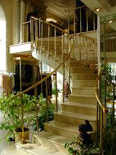 Лестничные ограждения и комплектующие из латуни