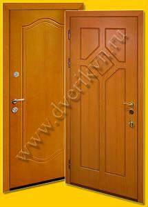 Металлические двери с отделкой панелями МДФ