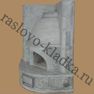 Камин изразцовый 04