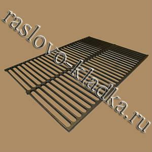 Чугунная гриль-решетка для барбекю и мангалов 560х390х6
