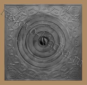 Чугунная плита под казан 740х740 с кольцами (Раслово-02)