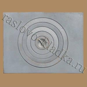Чугунная плита под казан 700х530 с кольцами (Раслово-04)