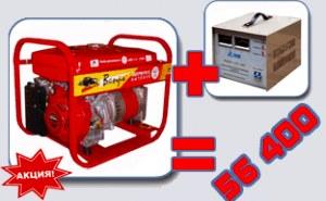 Бензиновый генератор 6 кВт ВЕПРЬ АБП-6-230 ВБ-БГ + СТАБИЛИЗАТОР