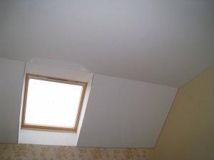 Матовый белый французский натяжной потолок