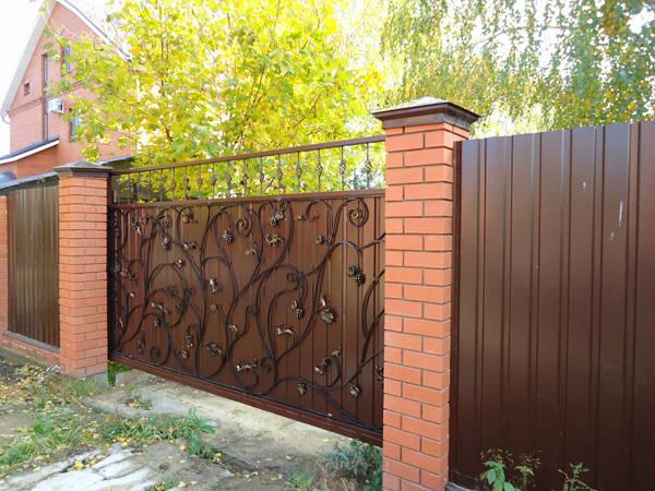 Фото Откатные ворота