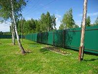 Забор из профлиста от 1200 руб за п.м