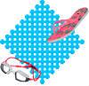 >> Сборное покрытие для мягкого пола сеточкой в бассейне или аквапарке