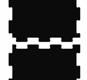 Гладкая резиновая плитка Резиплит-10 ТАБ