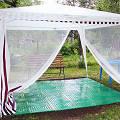 Фото Сборные полы для садового шатра