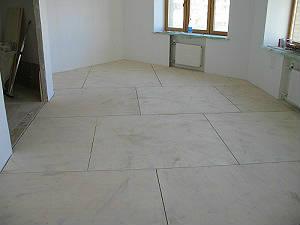 Настил фанеры на клей и дюбеля (бетонное основание)