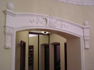Лепные работы, лепнина, гипсовый лепной декор, реставрация