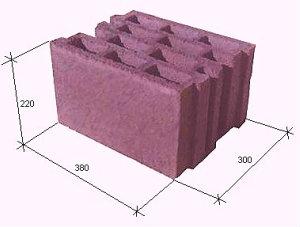 Керамзитобетонный блок 30*22*38