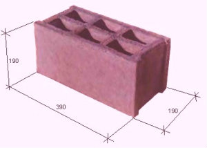 Керамзитобетонный блок 20*20*40