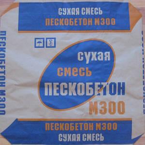 Сухая смесь М300 (пескобетон)