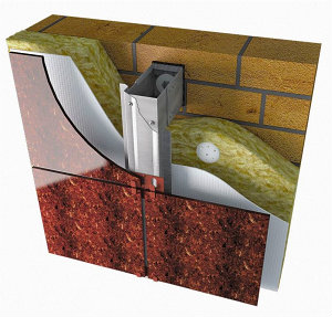 Вентилируемые фасады из окрашенной стали для облицовки керамогранитом