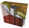 >> Вентилируемые фасады из окрашенной стали для облицовки керамогранитом