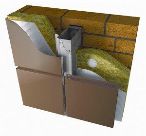 Вентилируемые фасады из окр. оцин стали для облицовки металлокассетами