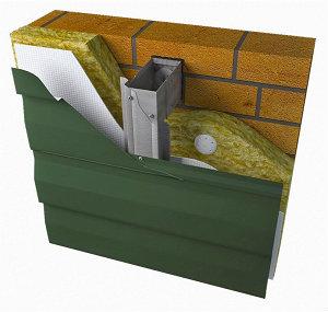 Вентилируемые фасады из окрашенной стали для облицовки металосайдингом